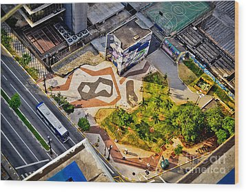Sao Paulo Downtown - Geometry Of Public Spaces Wood Print