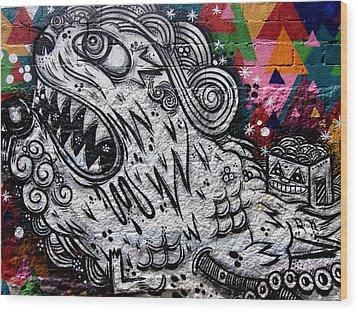 Sao Paulo Graffiti Vii Wood Print by Julie Niemela