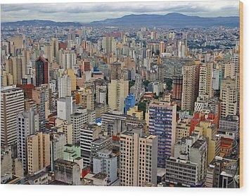 Wood Print featuring the photograph Sao Paulo by Henry Kowalski