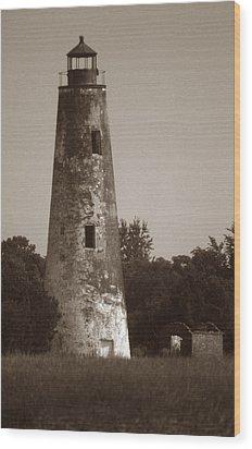 Sapelo Island Lighthouse Wood Print by Skip Willits