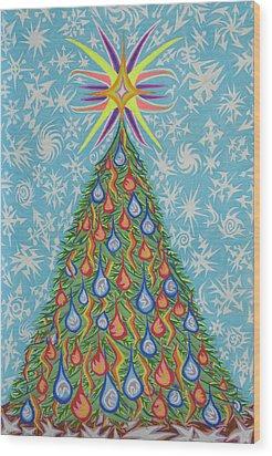 Sapin Noel Wood Print by Robert SORENSEN