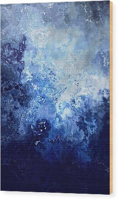 Sapphire Dream - Abstract Art Wood Print