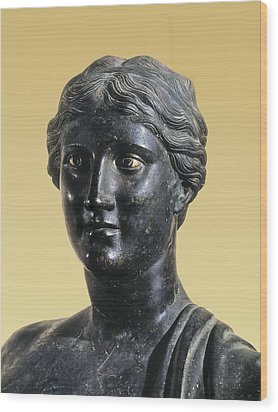 Sappho 612-545 Bc. Greek Art. Sculpture Wood Print by Everett
