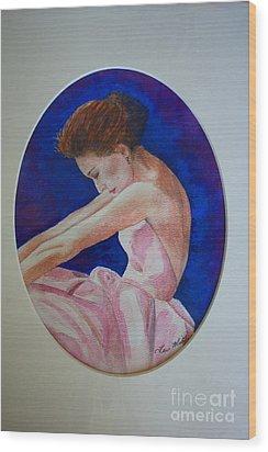 Sarah Jessica Parker Wood Print by Terri Maddin-Miller