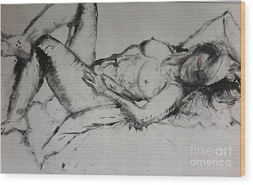 Sarah Sleeping Wood Print