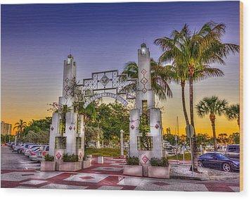 Sarasota Bayfront Wood Print by Marvin Spates