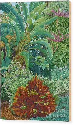 Sarasota Garden Wood Print by Beverly Theriault