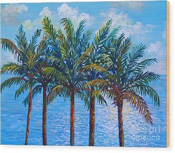 Sarasota Palms Wood Print by Lou Ann Bagnall