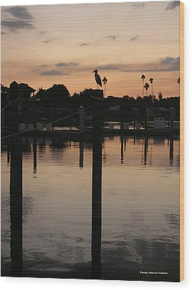 Sarasota Sunset Wood Print by Emmy Marie Vickers