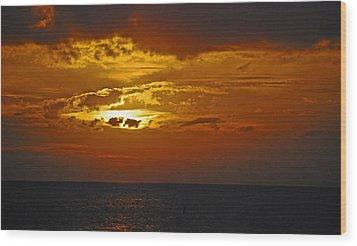 Sarasota Sunset Sun 98 Wood Print by G L Sarti