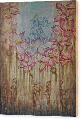 Sarasvati Wood Print by Vrindavan Das