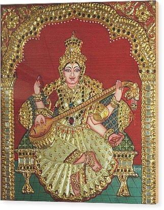 Saraswathi  Wood Print by Jayashree