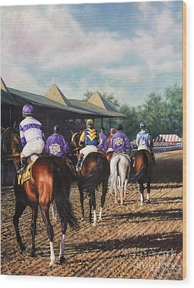 Saratoga Post Parade Wood Print by Thomas Allen Pauly