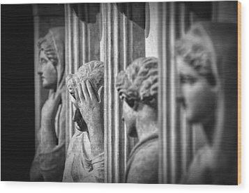 Sarcophagus Of The Crying Women II Wood Print by Taylan Apukovska