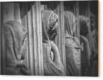 Sarcophagus Of The Crying Women Wood Print by Taylan Apukovska