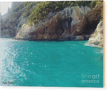 Wood Print featuring the photograph Sardegna Sea by Ramona Matei