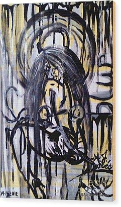 Sarge-7 On Fotoblur Wood Print by Adriana Garces