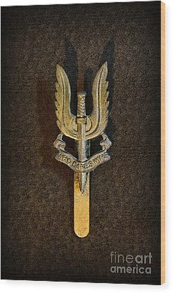 Sas - Special Air Service - Who Dares Wins Wood Print by Paul Ward