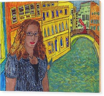 Sasha And Greta Wood Print