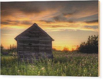 Saskatchewan Sunset Wood Print by Matt Dobson