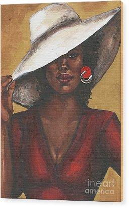 Wood Print featuring the painting Sassy by Alga Washington