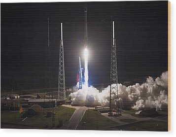 Satellite Launch Wood Print by Movie Poster Prints