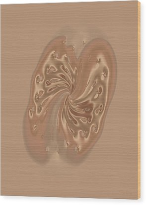 Satin Butterfly Wood Print by Judi Suni Hall