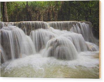 Satin Falls Wood Print by Kim Andelkovic