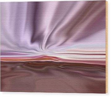 Satin Sky Wood Print by Tim Stringer