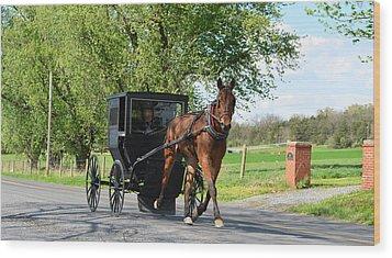 Saturday Buggy Ride Wood Print by Cathy Shiflett