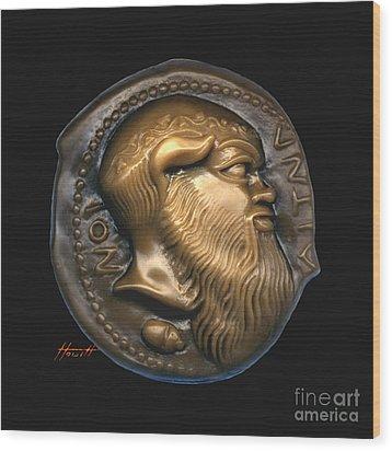 Satyr Or Silenos Wood Print by Patricia Howitt
