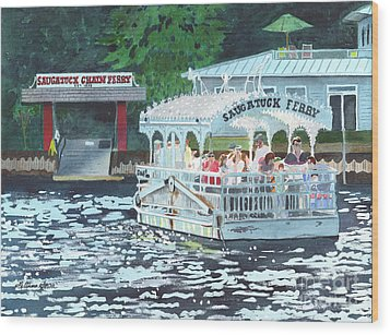 Saugatuck Chain Ferry Wood Print