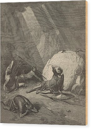 Saul's Conversion Wood Print by Antique Engravings