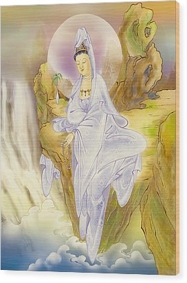 Wood Print featuring the photograph Sault-witnessing Kuan Yin by Lanjee Chee