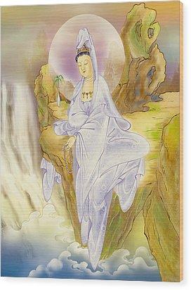 Sault-witnessing Kuan Yin Wood Print by Lanjee Chee