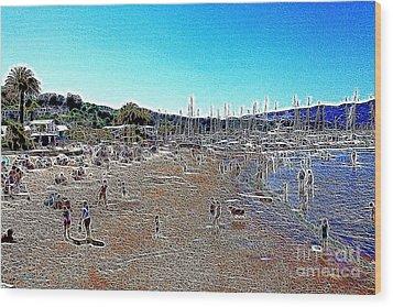 Sausalito Beach Sausalito California 5d22696 Artwork Wood Print by Wingsdomain Art and Photography
