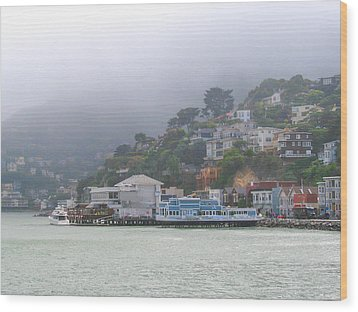 Sausalito Mists Wood Print