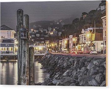 Sausalito Waterfront 2 Wood Print