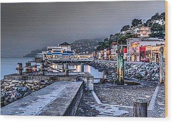 Sausalito Waterfront 3 Wood Print