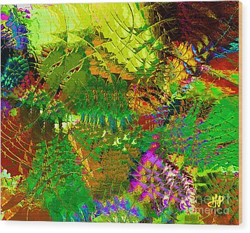 Savage Flowers Wood Print