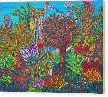 Savage Garden Wood Print by Peri Craig
