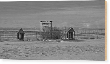 Wood Print featuring the photograph Savageton Cemetery  Wyoming by Cathy Anderson