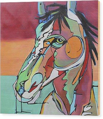 Wood Print featuring the painting Savannah  by Nicole Gaitan