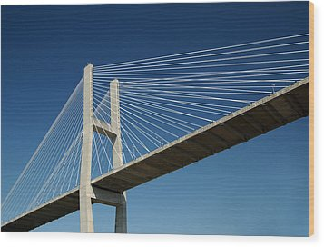 Savannah River Bridge Georgia Usa Wood Print