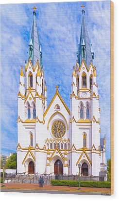Savannah's Fairytale Cathedral Wood Print by Mark E Tisdale