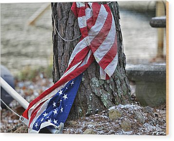 Save The Flag Wood Print by Susan Leggett