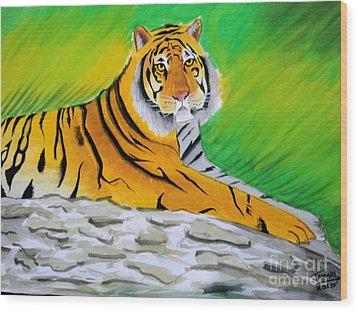 Save Tiger Wood Print by Tanmay Singh
