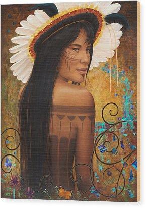 Save Xingu Wood Print by Sharon Irla