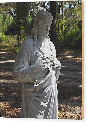 Savior Statue Wood Print by Al Powell Photography USA