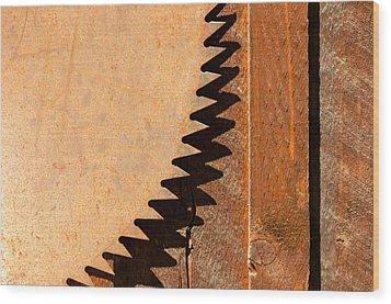 Saw Teeth Wood Print by Jess Kraft